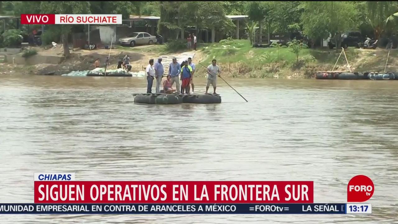 foto: Implementan operativos en zona migratoria en Chiapas