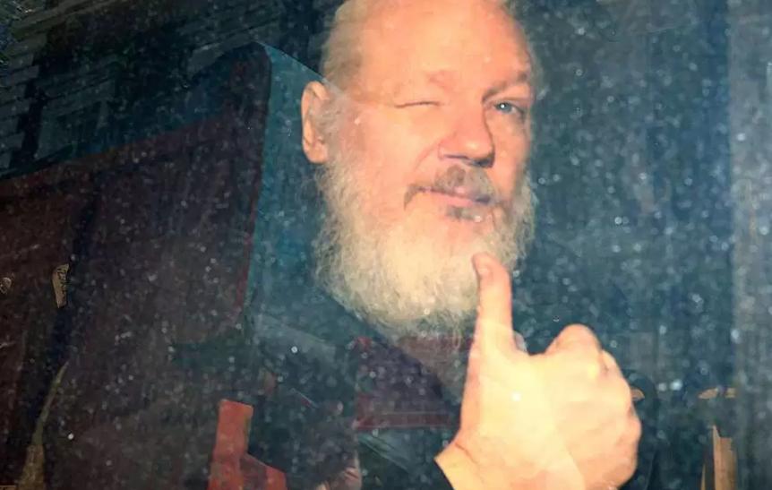 Foto: Julian Assange, fundador de WikiLeaks, 11 de abril de 2019, Reino Unido