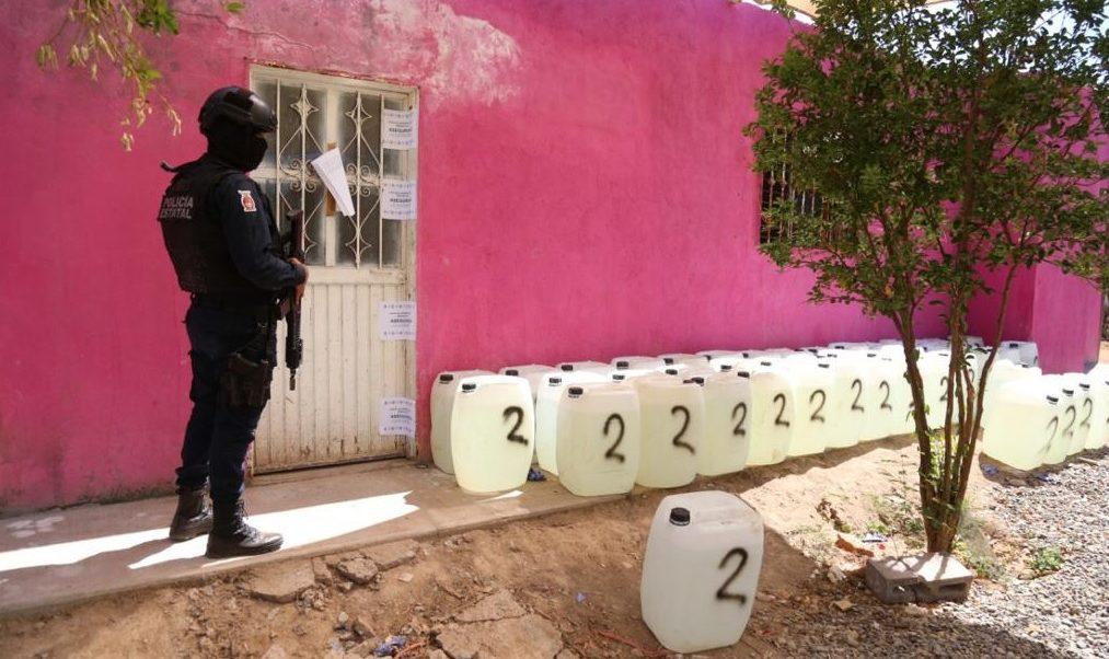 Foto: laboratorio clandestino asegurado en Culiacán, 20 de junio 2019. Twitter @sspsinaloa1