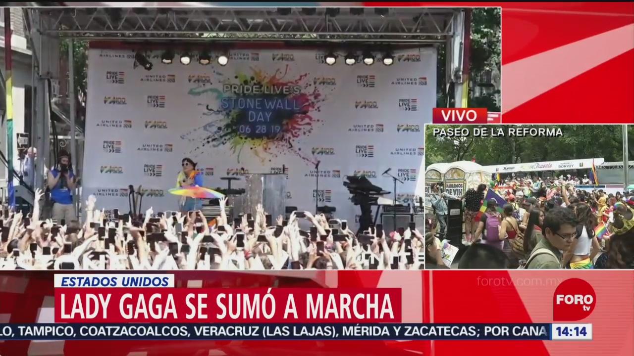 FOTO: Lady Gaga se une al festejo del Orgullo LGBTTTIQ, 29 Junio 2019