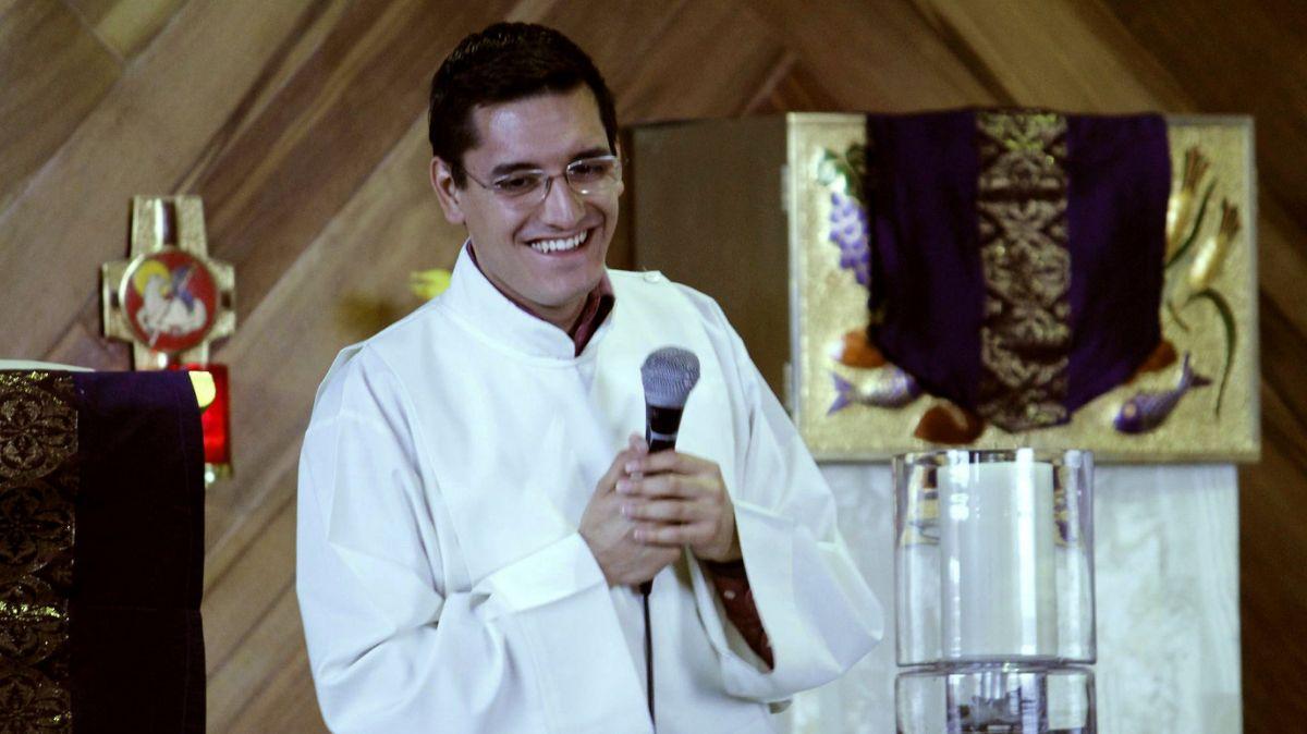 Foto: Leonardo Avendaño, seminarista y estudiante de la Universidad Intercontinental. El 13 de junio de 2019