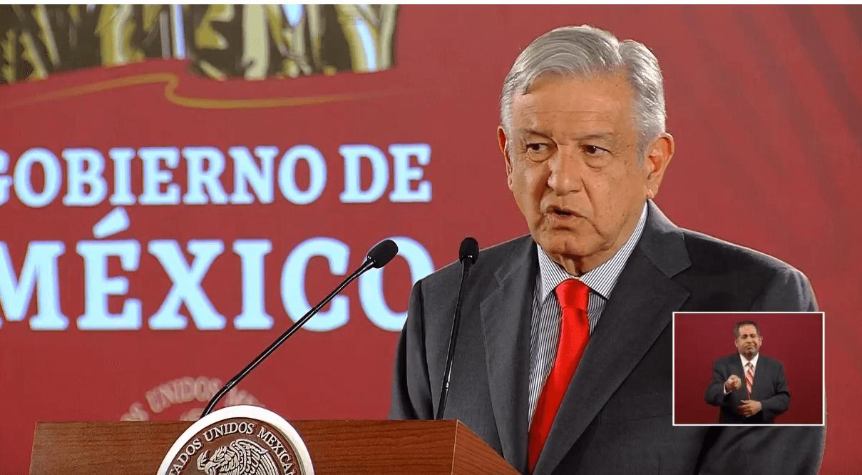 Foto: López Obrador en conferencia de prensa desde Palacio Nacional, 6 de junio de 2019, Ciudad de México