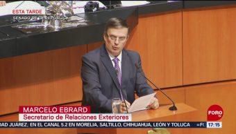 Foto: Marcelo Ebrard Senadores Proyecto Migratorio EU 14 Junio 2019