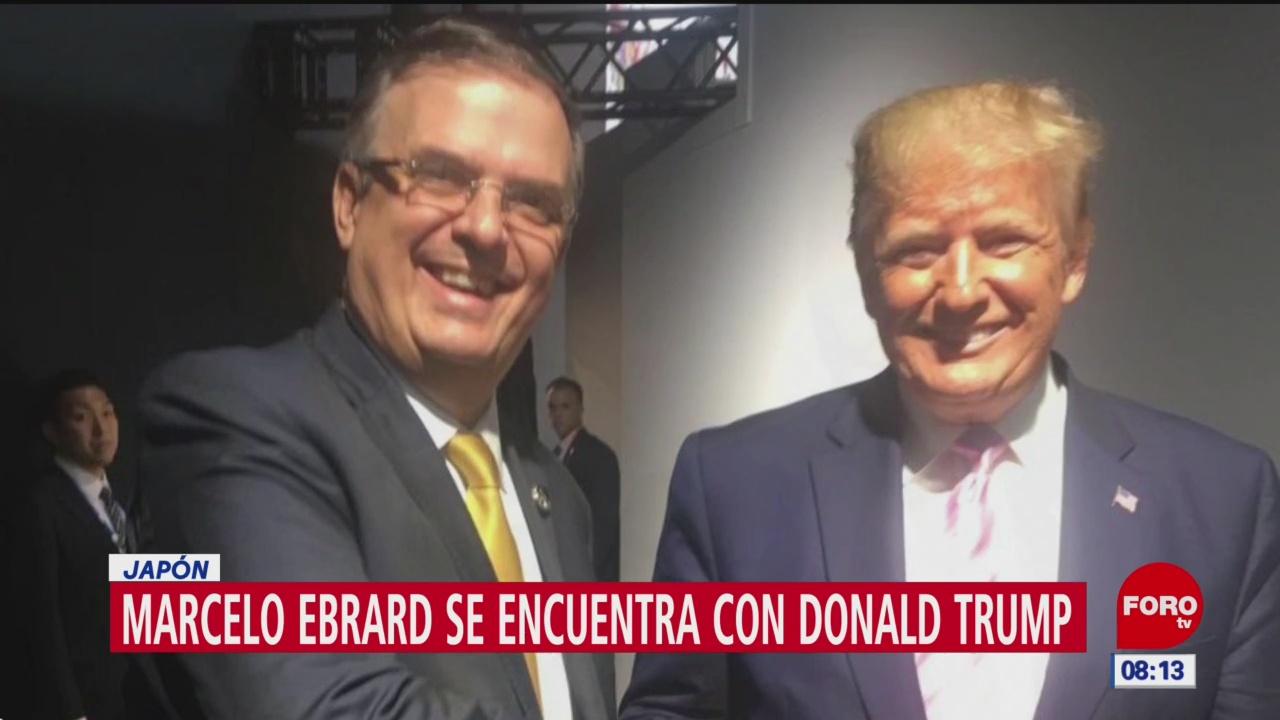 Marcelo Ebrard y Donald Trump se saludan en Cumbre del G20