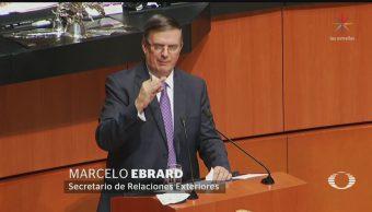Foto: Marcelo Ebrard Comparecen Senado Negociaciones Estados Unidos 14 Junio 2019