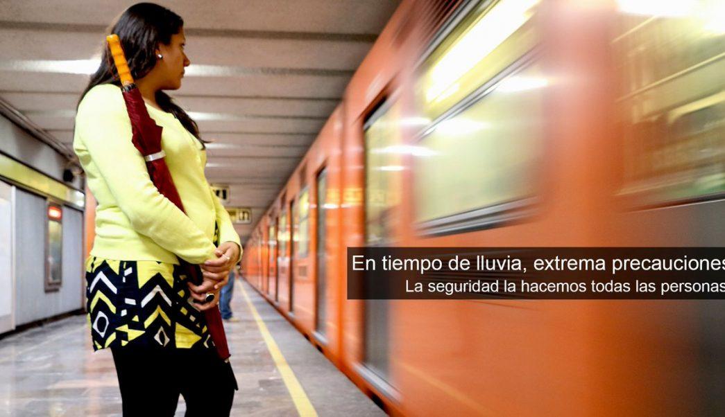 foto Se le cae paraguas a vías del Metro, provoca corto circuito y resulta herida 25 junio 2019