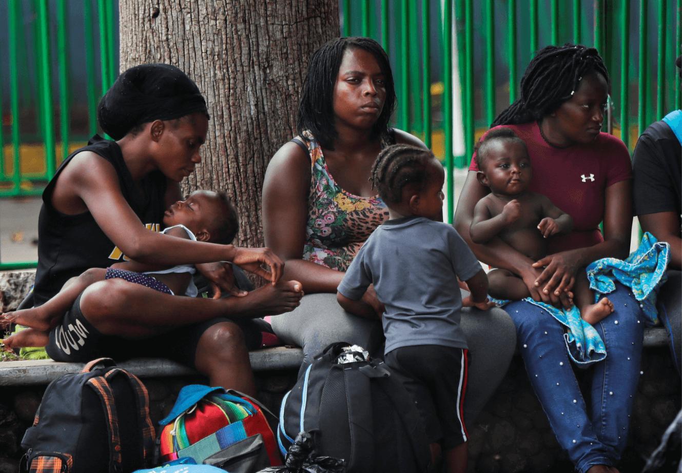 Foto: Migrantes haitianos en Tapachula, Chiapas, 3 de junio de 2019, México