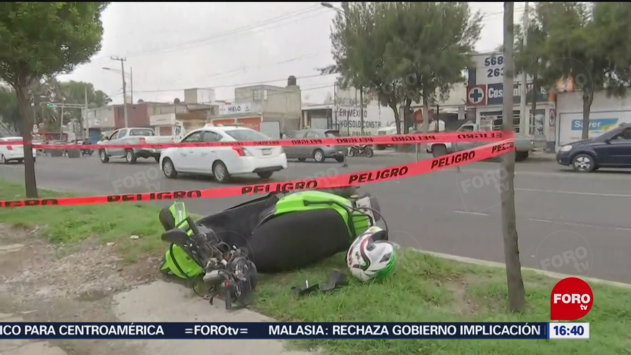 Foto: Muere motociclista tras derrapar