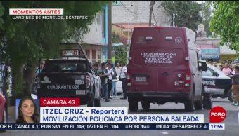 FOTO: Muere una persona por herida de bala en Ecatepec