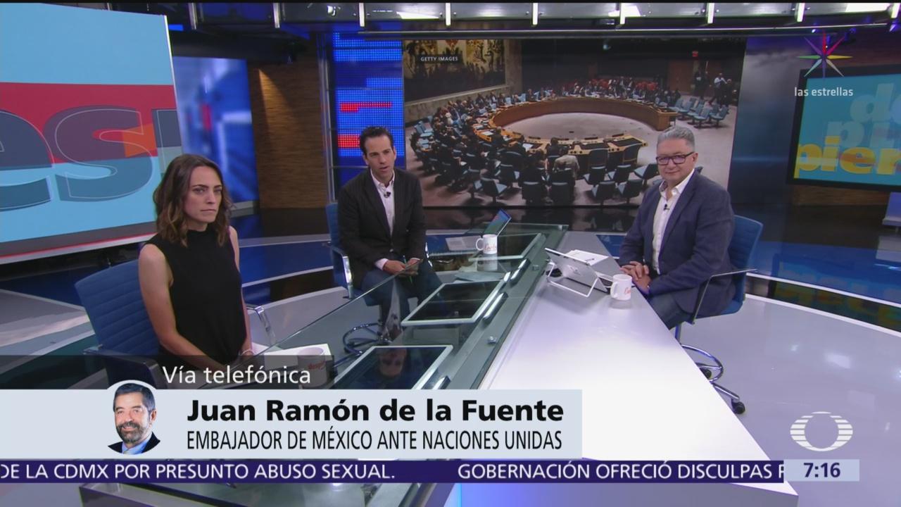 Para México es mejor participar en el Consejo de Seguridad de la ONU: Juan Ramón de la Fuente