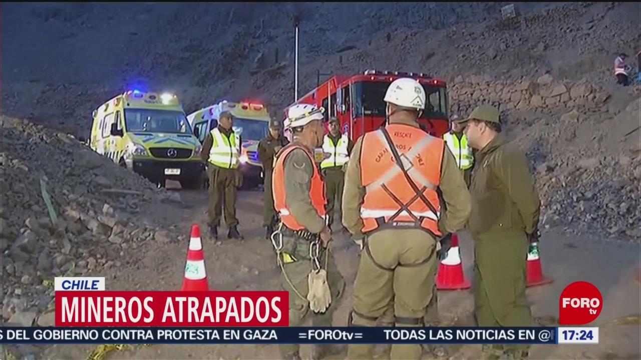 FOTO: Rescatan a 1 de 3 trabajadores atrapados en una mina en Chile, 15 Junio 2019