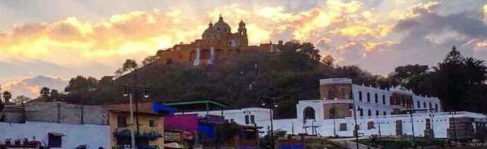Panoramica de San Pedro Cholula, Puebla, 23 de junio de 2019.