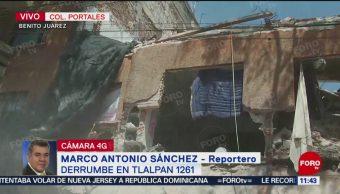 Se derrumba edificio en reconstrucción en Tlalpan, CDMX