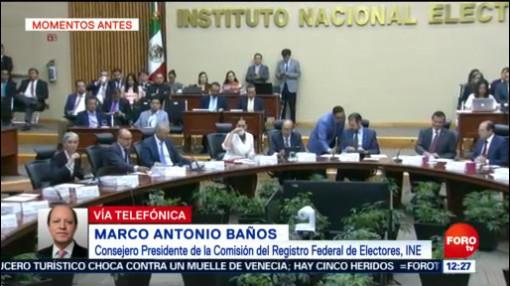 FOTO: Se registra elección tranquila en las 6 entidades mexicanas: Consejero Antonio Baños, 2 Junio 2019