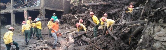 Foto: Trabajos de limpieza tras desbordamiento de río en San Gabriel, Jalisco, 3 de junio 2019. Twitter @PCJalisco