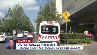Trasladan a hospital a policía herido durante balacera en Iztacalco, CDMX