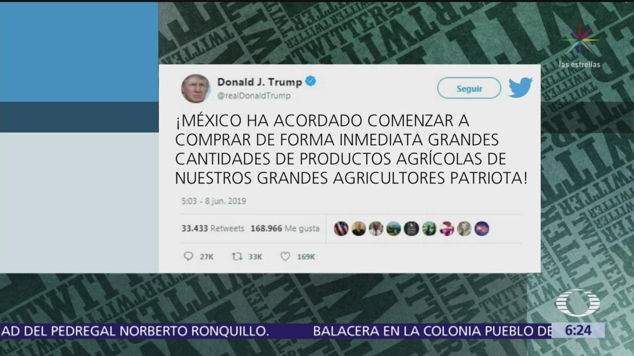Trump amenaza nuevamente a México con aranceles si no ratifica acuerdo de inmigración