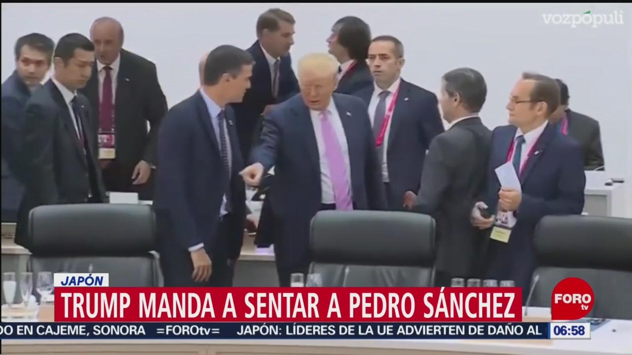 Trump manda a sentar a Pedro Sánchez durante la Cumbre del G20