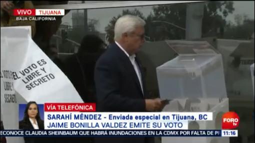 FOTO: Vota Jaime Bonilla, candidato a la gubernatura de Baja California, 2 Junio 2019