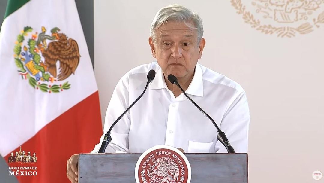 Foto: El presidente Andrés Manuel López Obrador durante un acto en San Luis Potosí, el 19 de julio de 2019 (Gobierno de México)