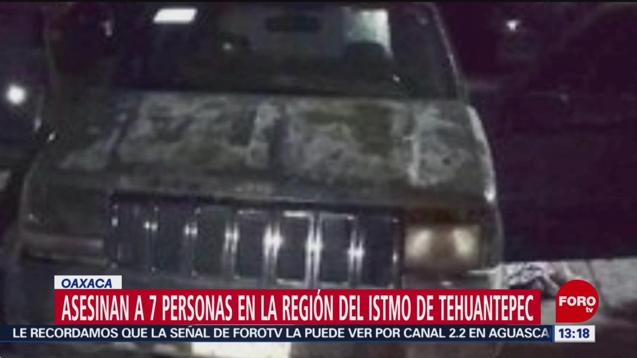 FOTO: Asesinan a 7 personas en el Istmo de Tehuantepec, Oaxaca, 28 Julio 2019