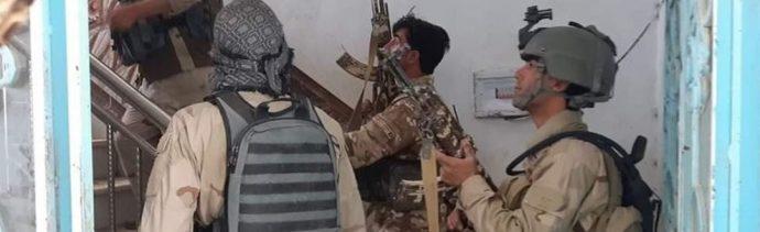 Foto: Varios insurgentes suicidas entraron en un hotel en la capital provincial Qala-e-Naw, Afganistán, 13 julio 2019