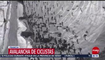 Foto: Video Accidente Avalancha Ciclistas Francia 6 Julio 2019