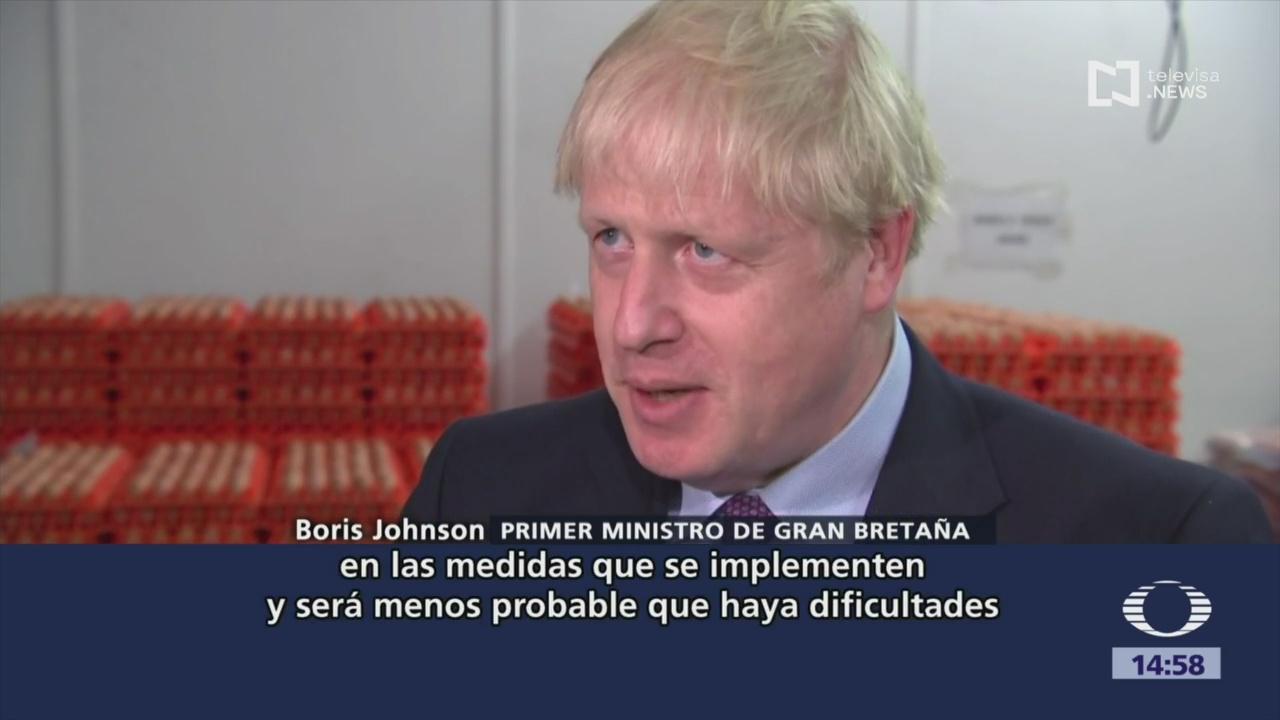 FOTO: Boris Johnson reafirma compromiso para salir de la UE con o sin acuerdo sobre el Brexit