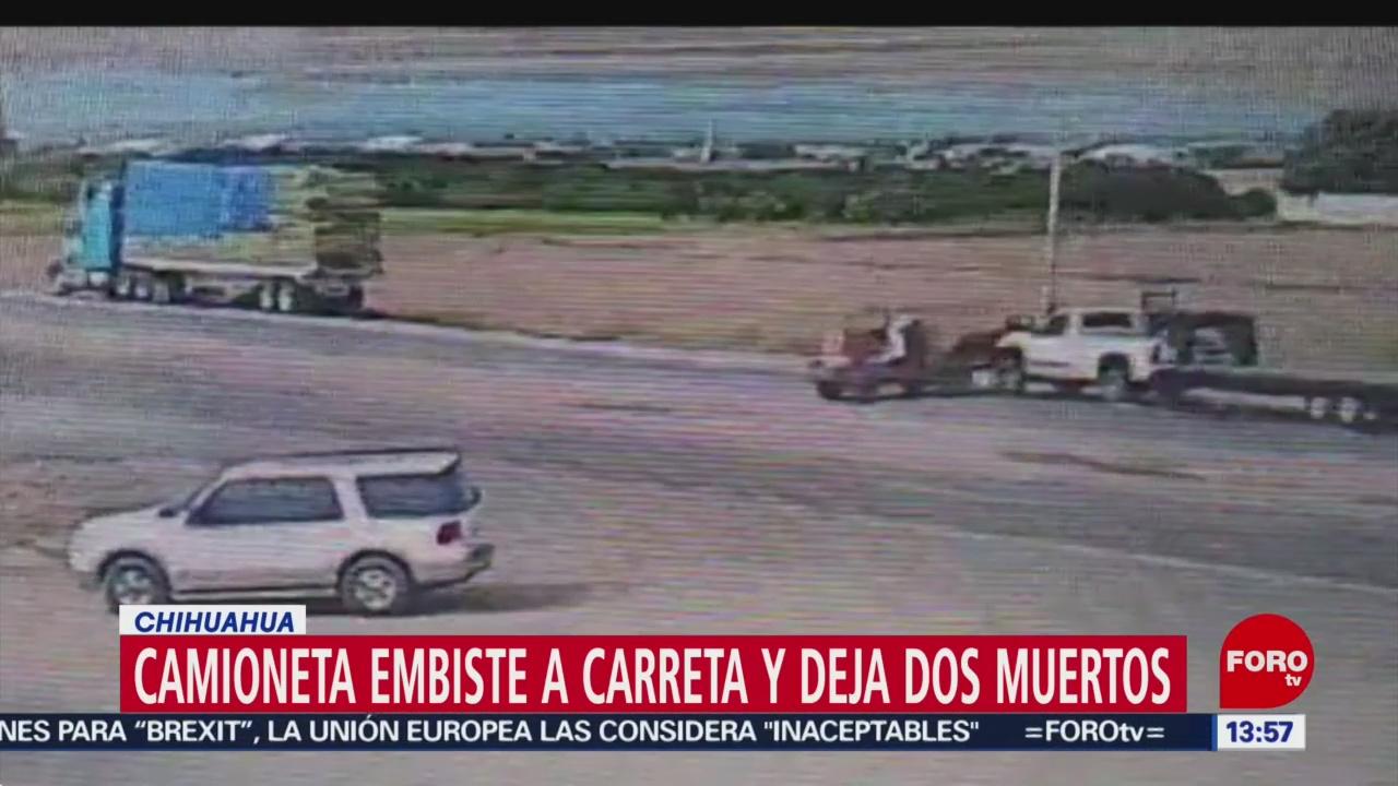 Foto: Camioneta Arrolla Carreta Dos Muertos Chihuahua 25 Julio 2019