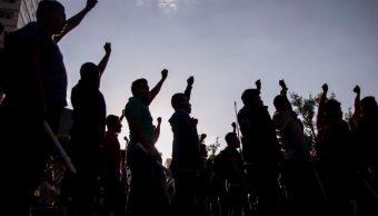 Foto: Protesta de campesinos en el Zócalo de la CDMX, 22 de julio de 2019, México