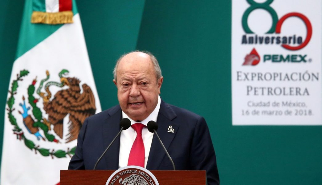 Foto: Carlos Romero Deschamps, líder del sindicato petrolero, 3 de marzo de 2018, Ciudad de Méxic