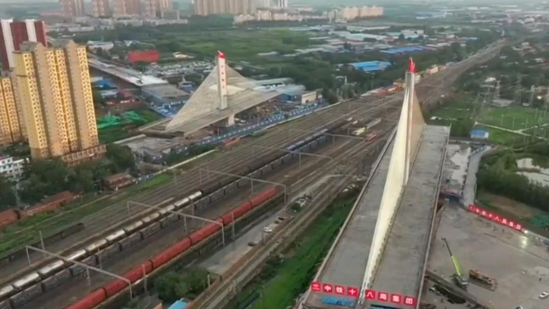 Foto: China conecta puente atirantado, 30 de julio de 2019