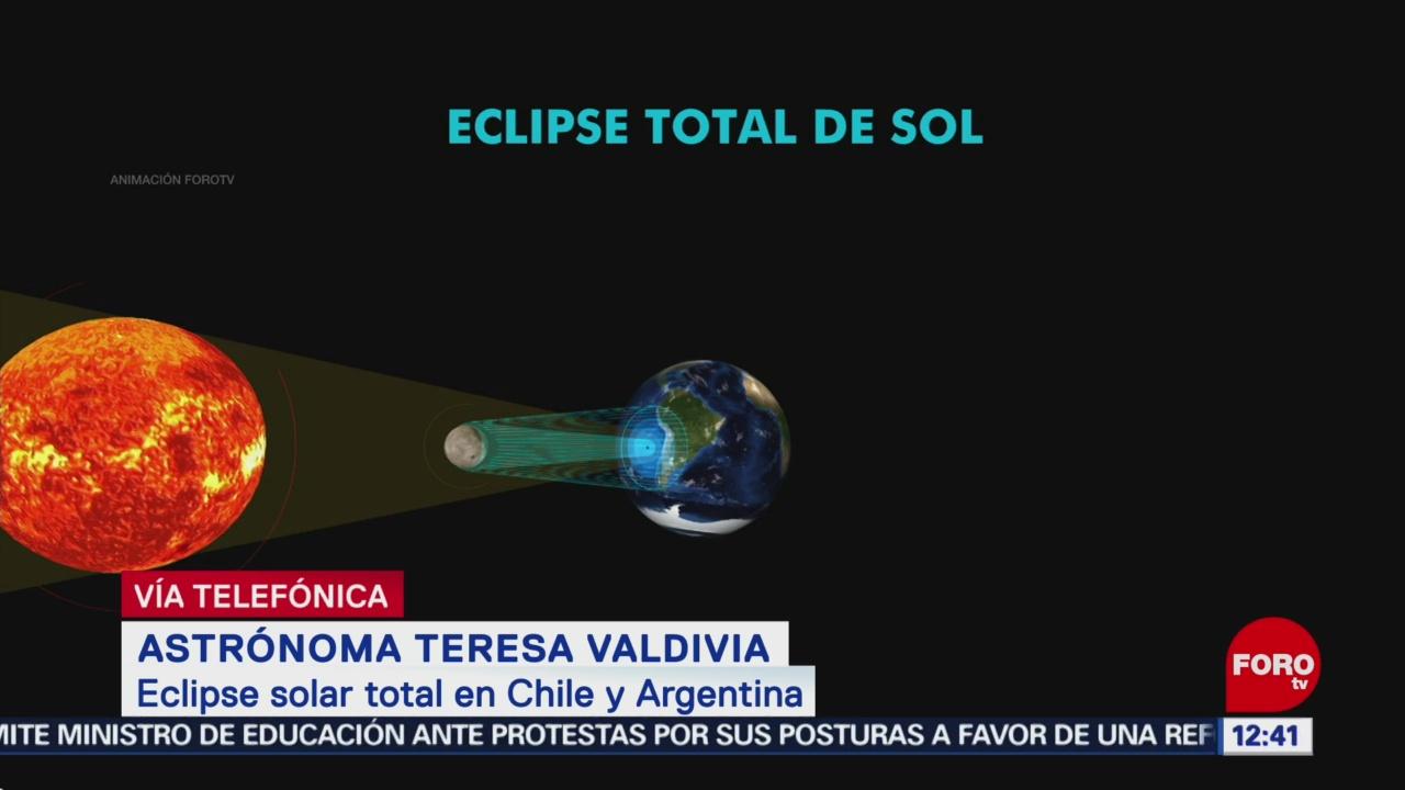 Científica explica cómo se verá el eclipse solar del 2 de julio