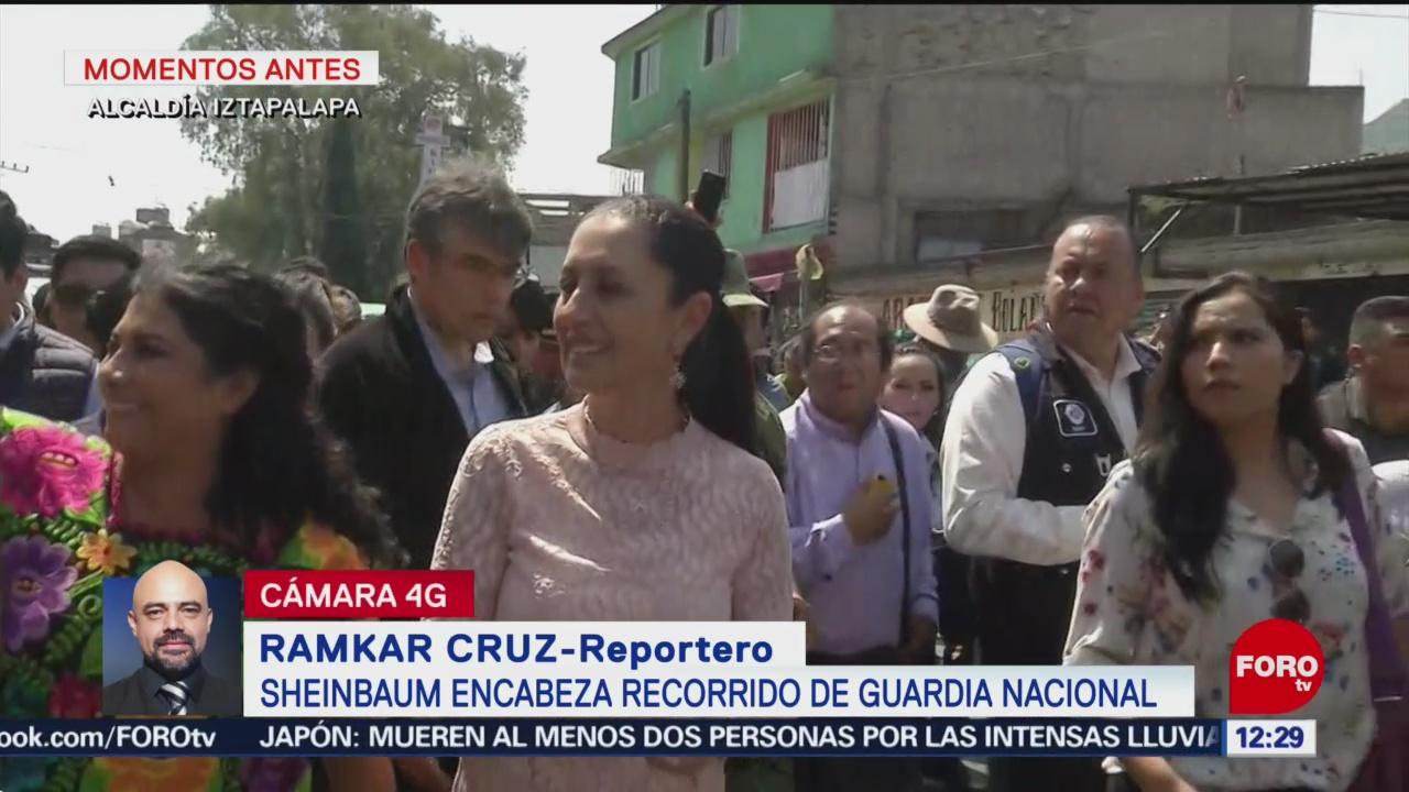 Claudia Sheinbaum encabeza recorrido de Guardia Nacional en Iztapalapa