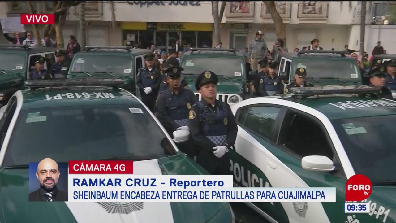 Claudia Sheinbaum entrega de nuevas patrullas para Cuajimalpa
