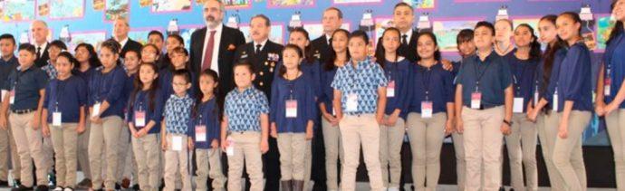 Foto: Los niños ganadores de 'El Niño y la Mar 2019', 19 de julio de 2019 (Twitter @SEMAR_mx)