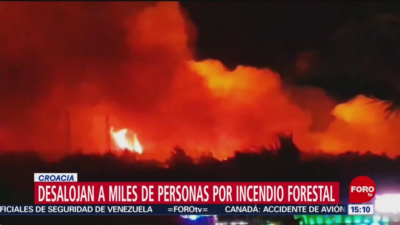 Desalojo durante festival por incendio forestal
