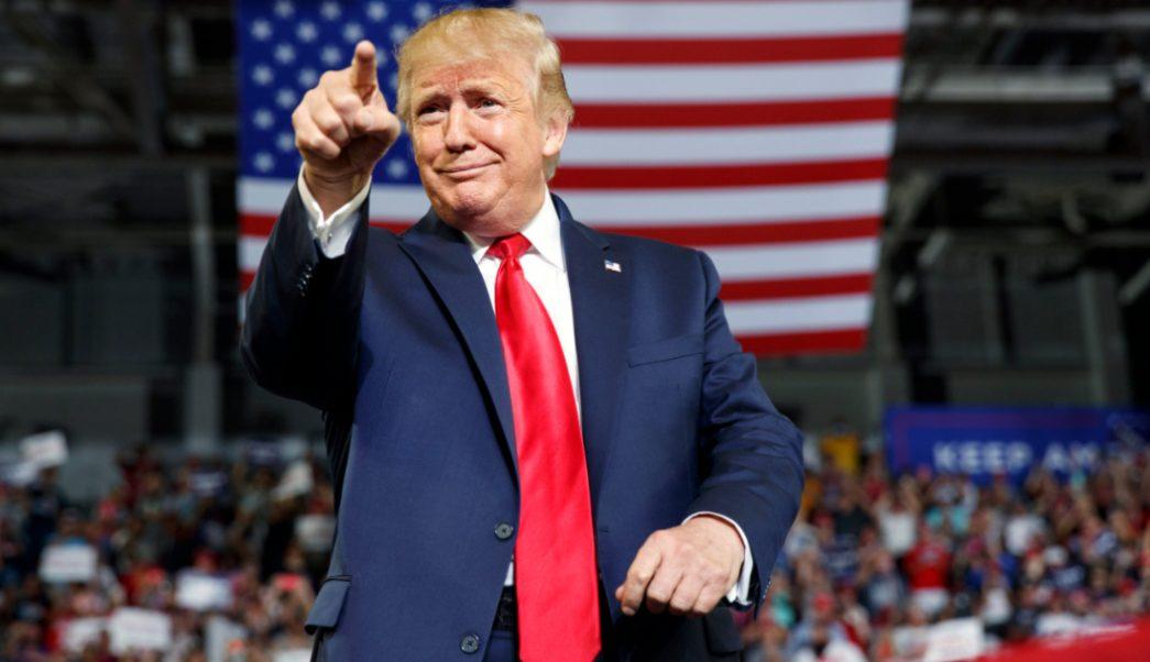 Foto:: El presidente Donald Trump durante un acto de campaña en Greenville, Carolina del Norte, 18 julio 2019