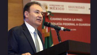 Alfonso Durazo, secretario de Seguridad Pública, el 13 de julio 2019