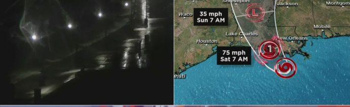 Foto: Alerta Costa Louisiana Estados Unidos Tormenta Barry 12 Julio 2019