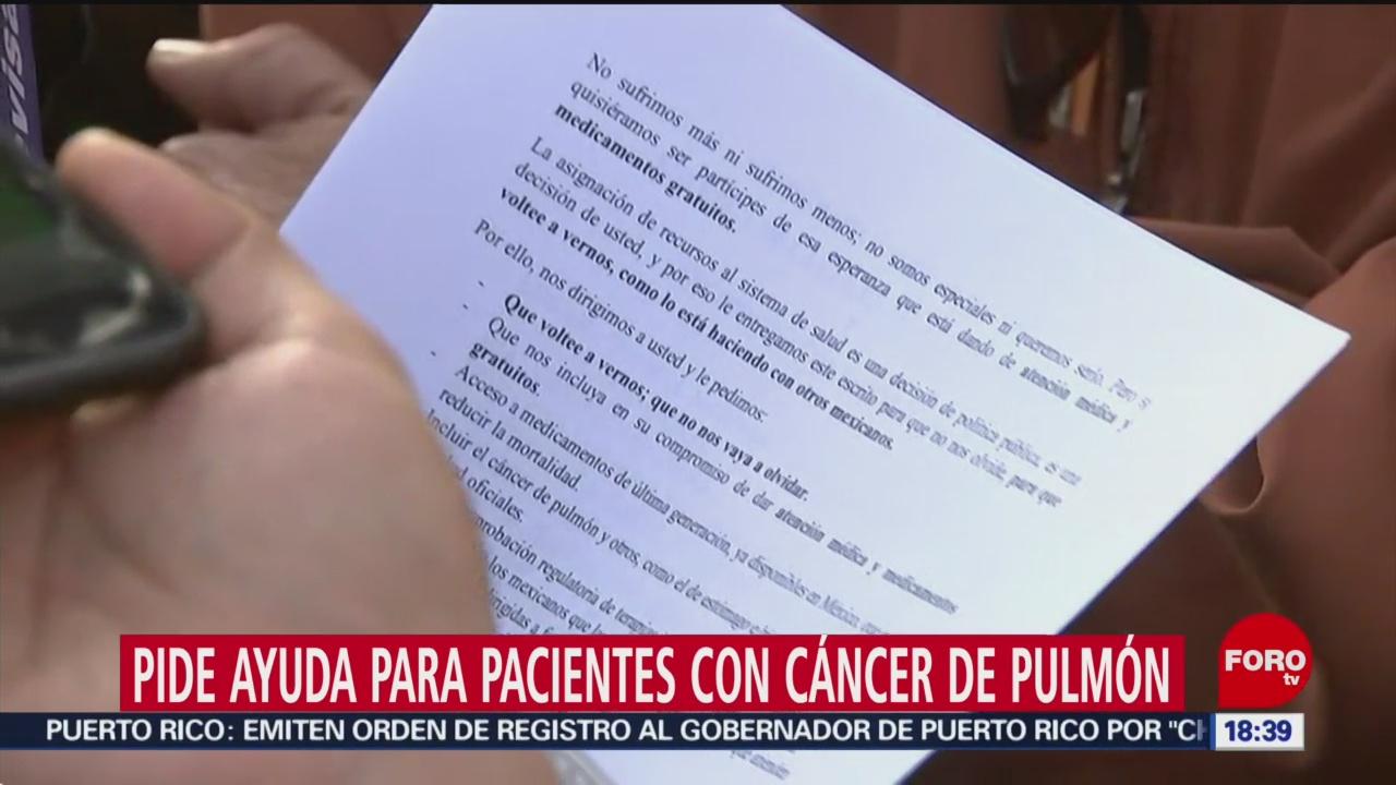 Enferma de cáncer solicita ayuda en Palacio Nacional
