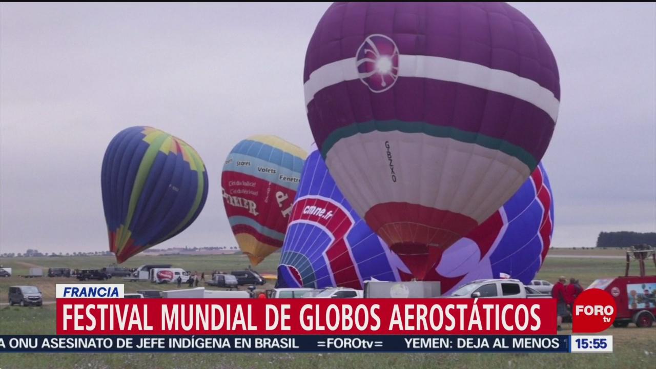 Festival mundial globos aerostáticos Francia
