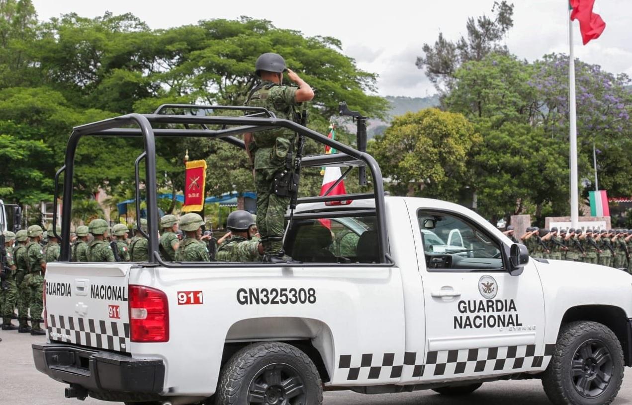 Foto: elementos de la Guardia Nacional en Guerrero, 2 de julio 2019. Twitter @HectorAstudillo