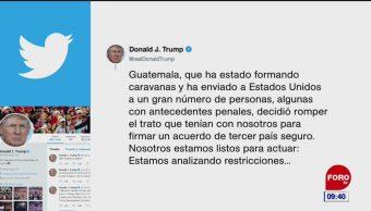 Guatemala no se ha portado bien, dice Trump