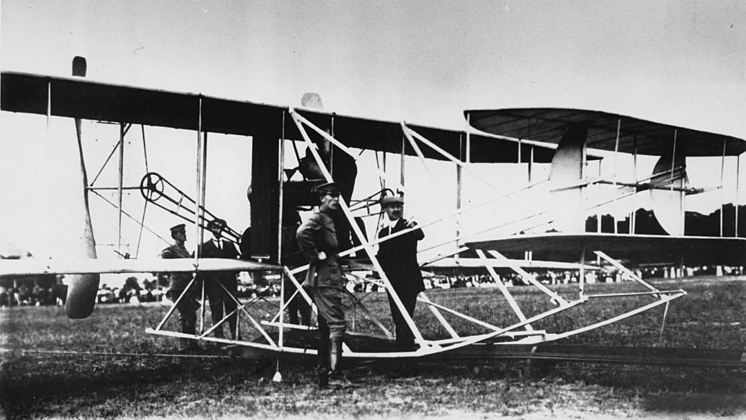 Foto: Los hermanos Wright presentan por segunda vez su avión militar, 30 de enero de 1909. Estados Unidos