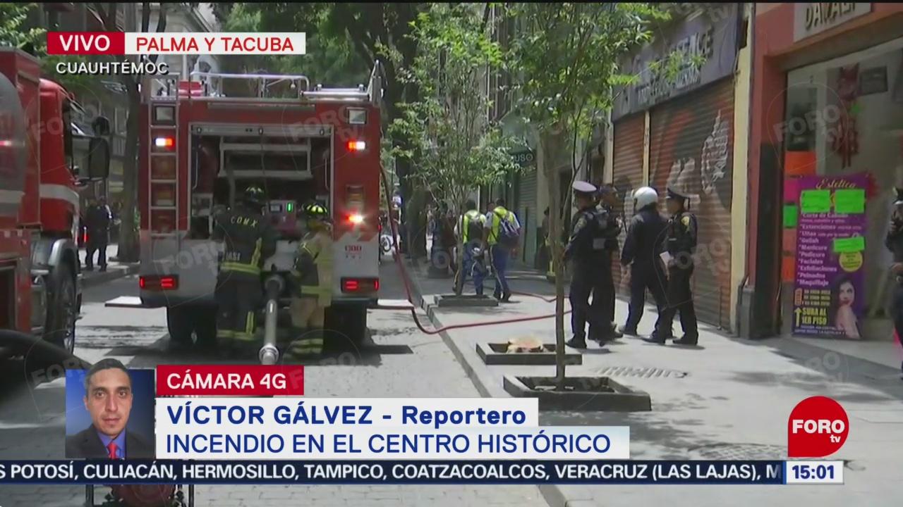 FOTO: Incendio en el centro histórico de la CDMX, 21 Julio 2019