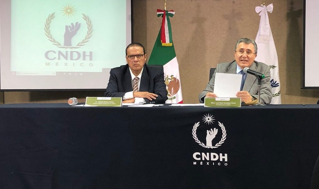 Foto: Conferencia de la CNDH, 5 julio 2019. Twitter @CNDH