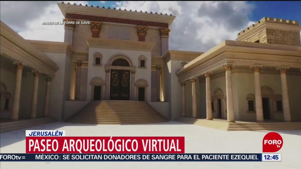 Israel difunde pasado en Jerusalén con realidad virtual