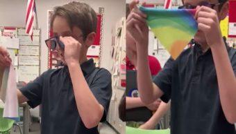 Foto Niño ahorra y le compra lentes a su amigo daltónico 9 julio 2019