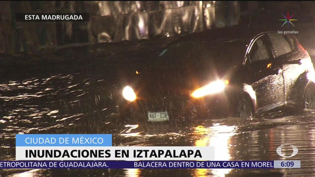 Lluvia intensa provoca inundaciones en alcaldía Iztapalapa